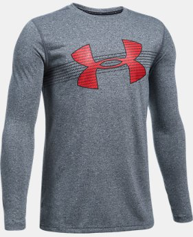 New Arrival  Boys' UA Threadborne™ Long Sleeve  1 Color $34.99