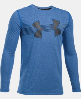 Boys' UA Threadborne™ Long Sleeve  4 Colors $34.99