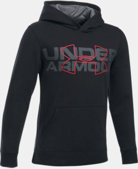 Boys' UA Threadborne™ Logo Hoodie LIMITED TIME OFFER 9 Colors $31.49