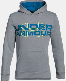 Boys' UA Threadborne™ Logo Hoodie LIMITED TIME OFFER 5 Colors $31.49