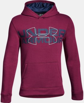 Boys' UA Threadborne™ Logo Hoodie LIMITED TIME OFFER 3 Colors $31.49