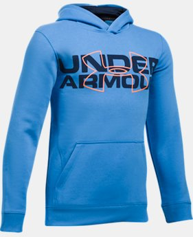 Boys' UA Threadborne™ Logo Hoodie LIMITED TIME OFFER 8 Colors $41.99