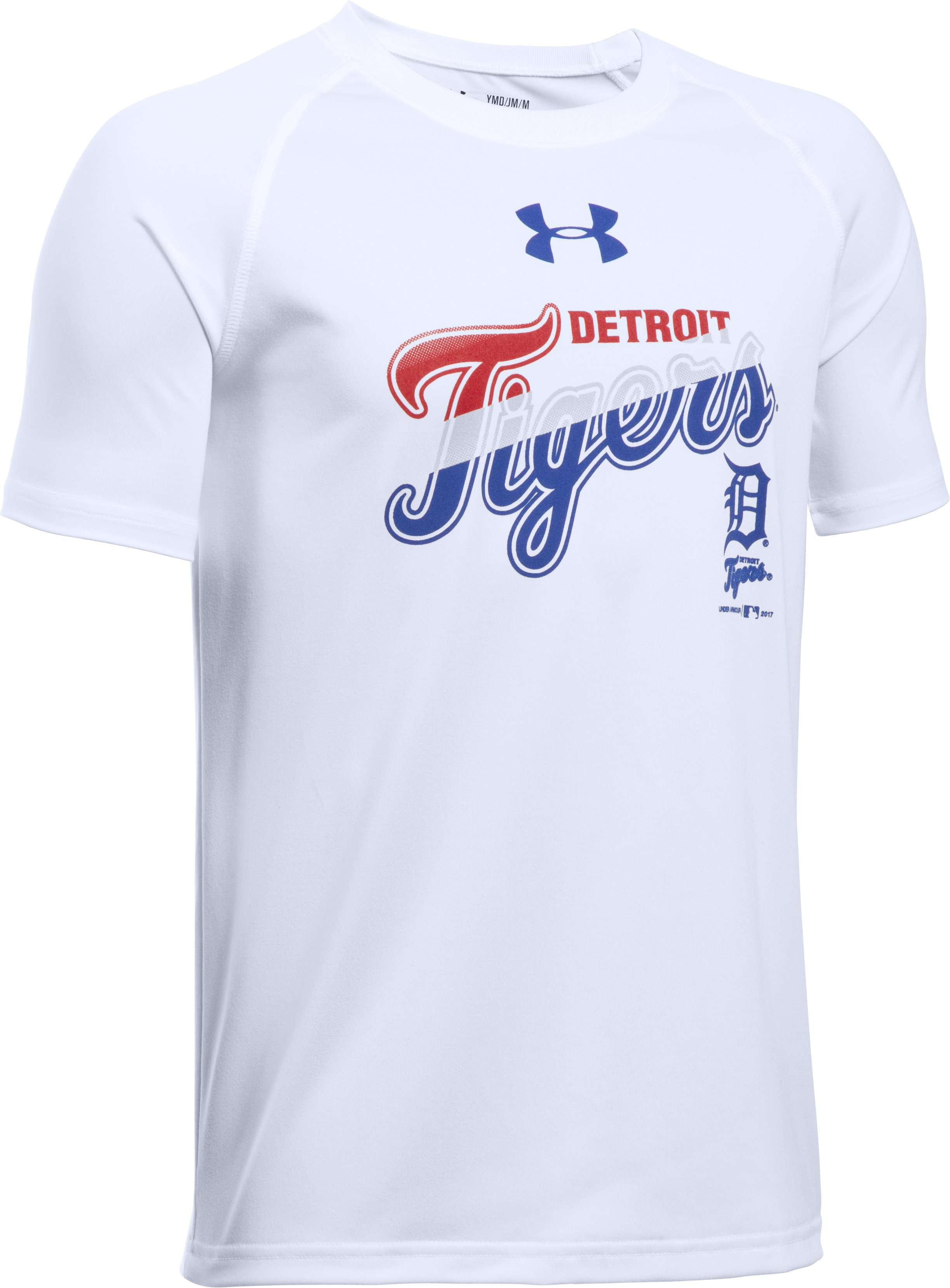 Boys' Detroit Tigers T-Shirt, White, undefined