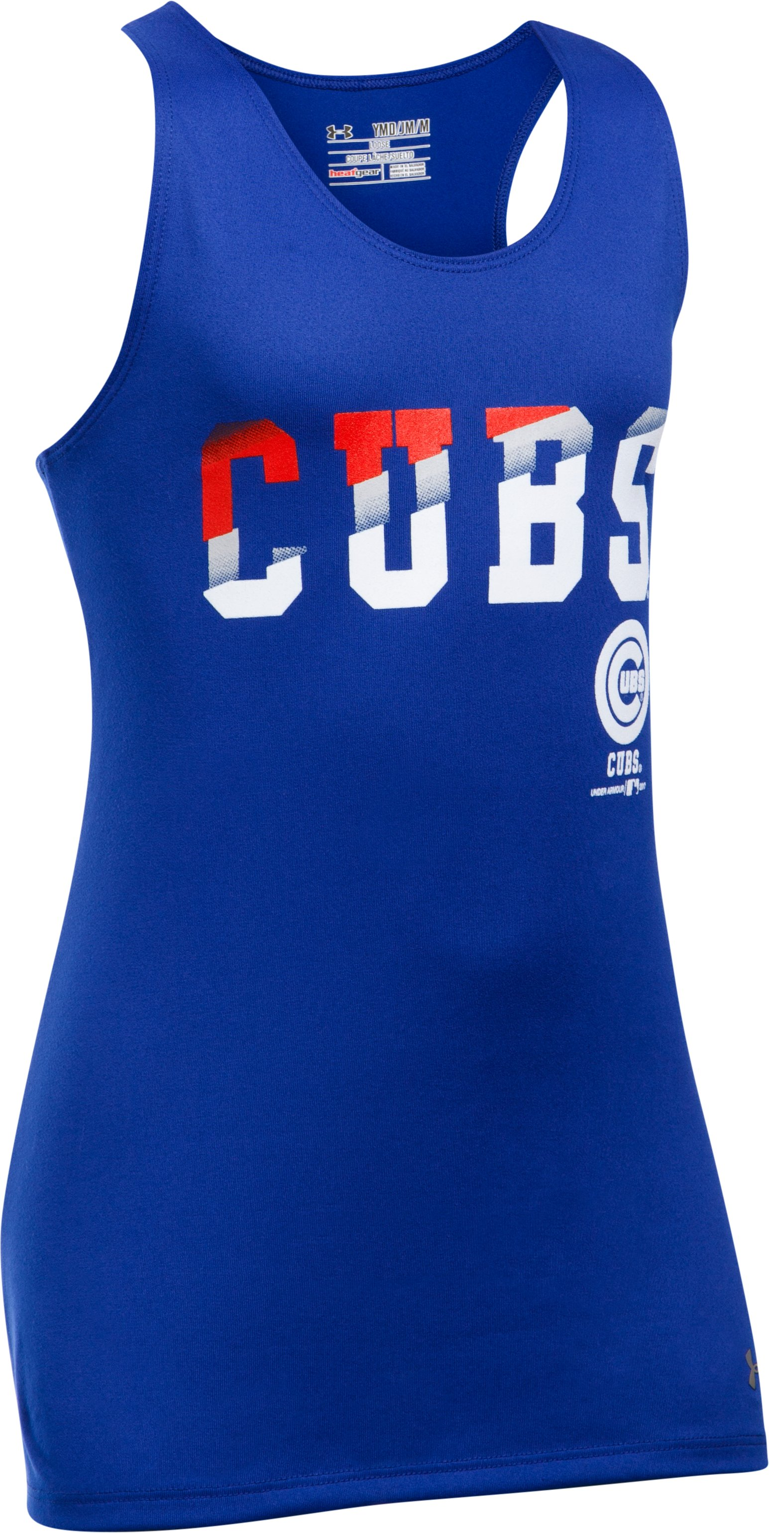 Girls' Chicago Cubs UA Tech™ 4th Of July Tank, Royal,