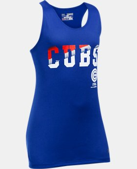 New to Outlet Girls' Chicago Cubs UA Tech™ 4th Of July Tank  1 Color $17.99