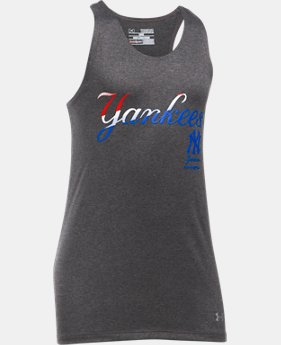 Girls' New York Yankees UA Tech™ 4th Of July Tank  1 Color $18.99