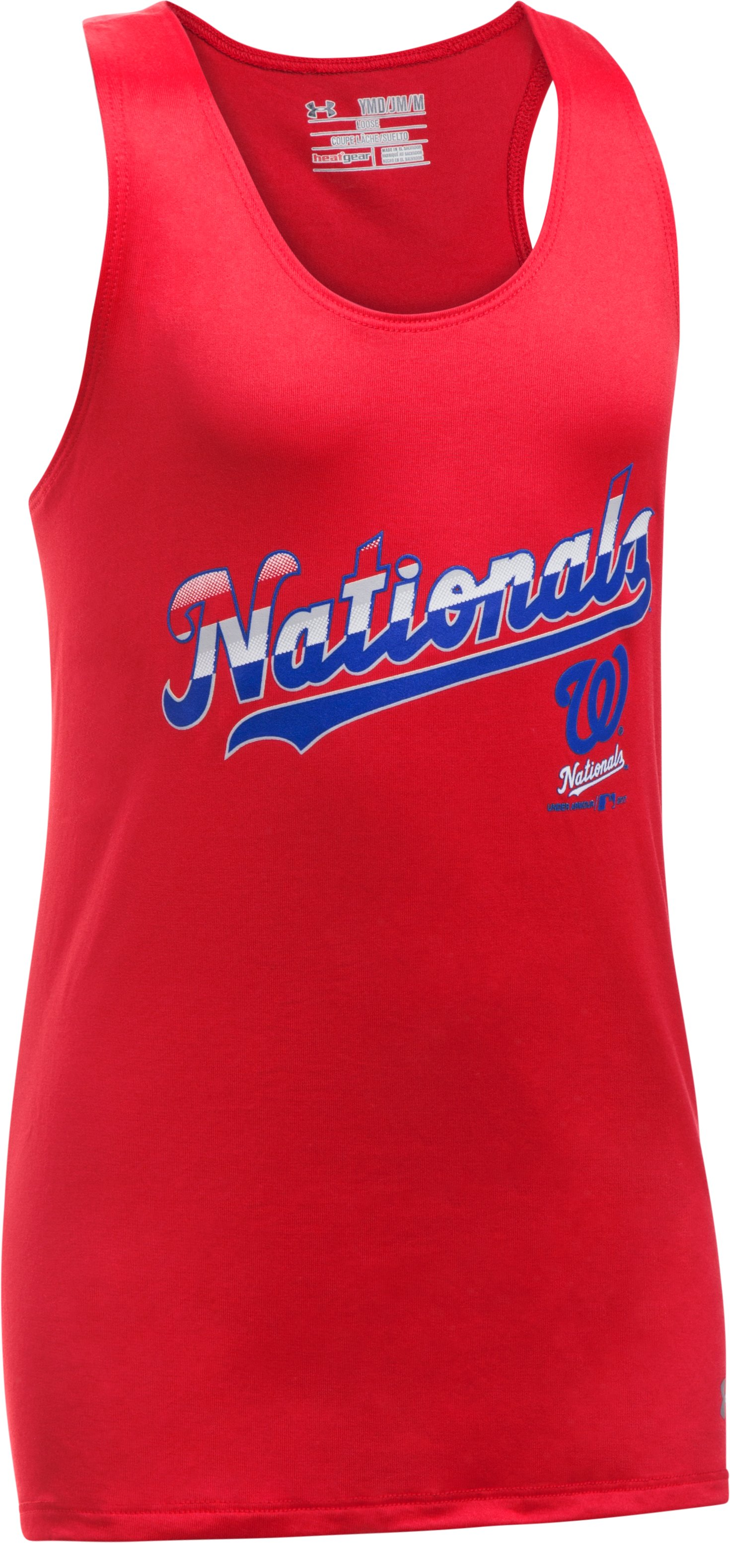 Girls' Washington Nationals UA Tech™ 4th Of July Tank, Red,