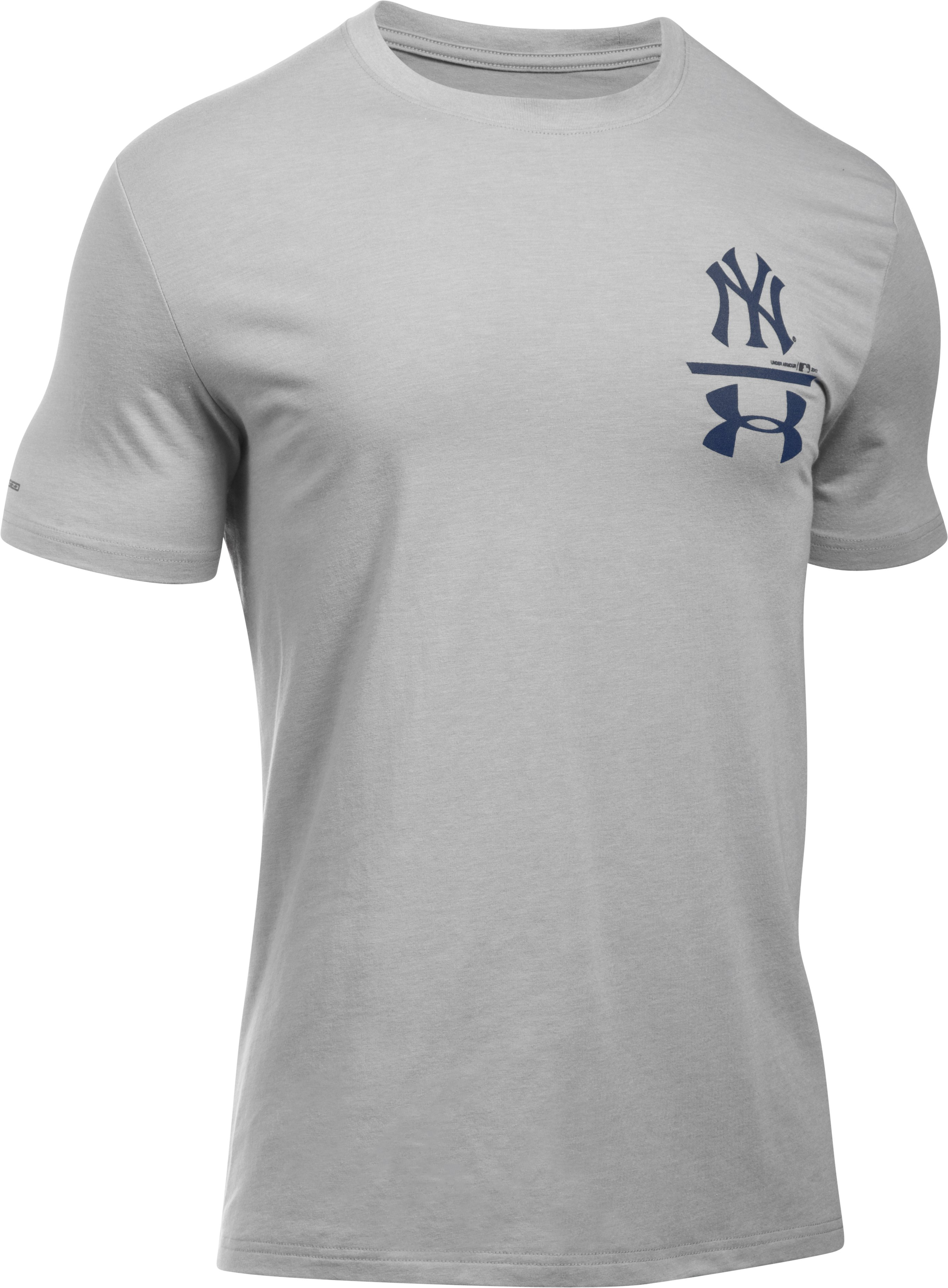 Men's New York Yankees Logo T-Shirt, True Gray Heather,