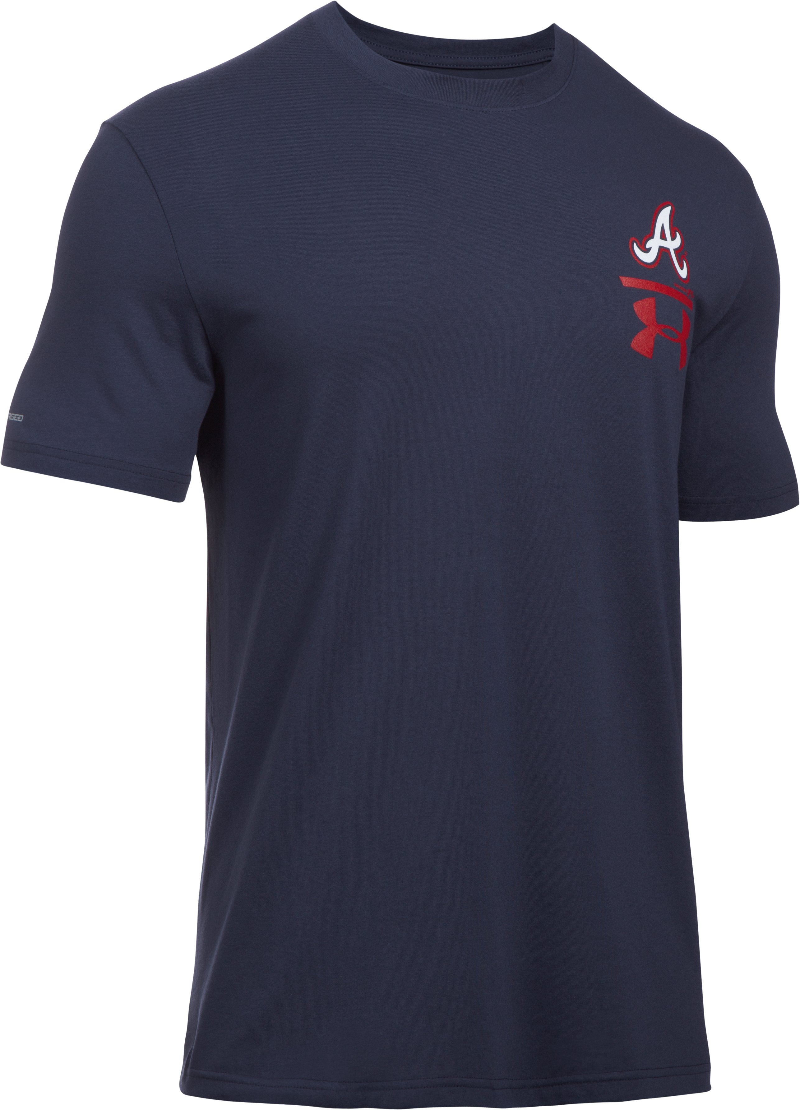 Men's Atlanta Braves Logo T-Shirt, Midnight Navy, undefined