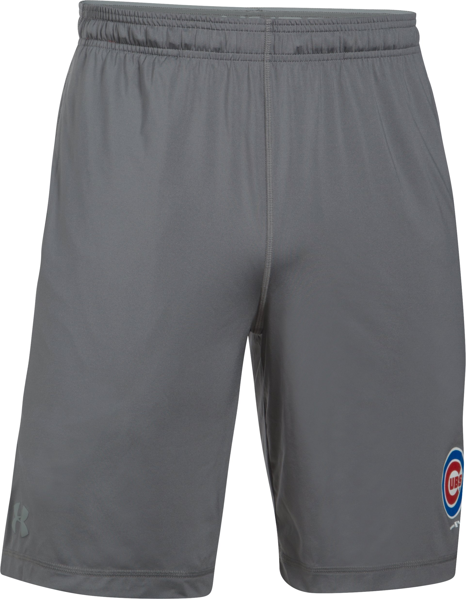 Men's Chicago Cubs UA Raid Shorts, Graphite, undefined
