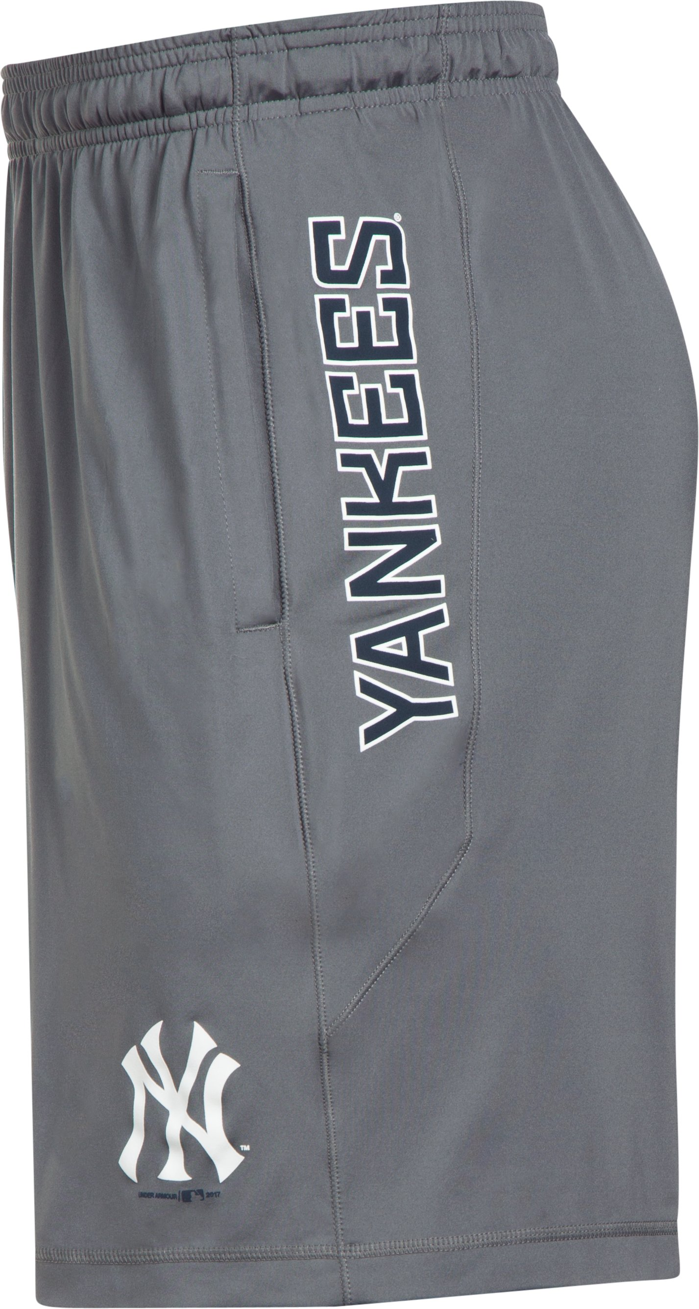 Men's New York Yankees UA Raid Shorts, Graphite,