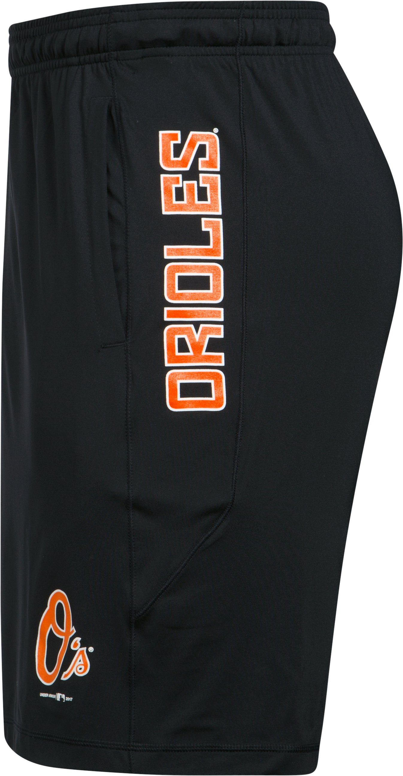 Men's Baltimore Orioles UA Raid Shorts, Black ,