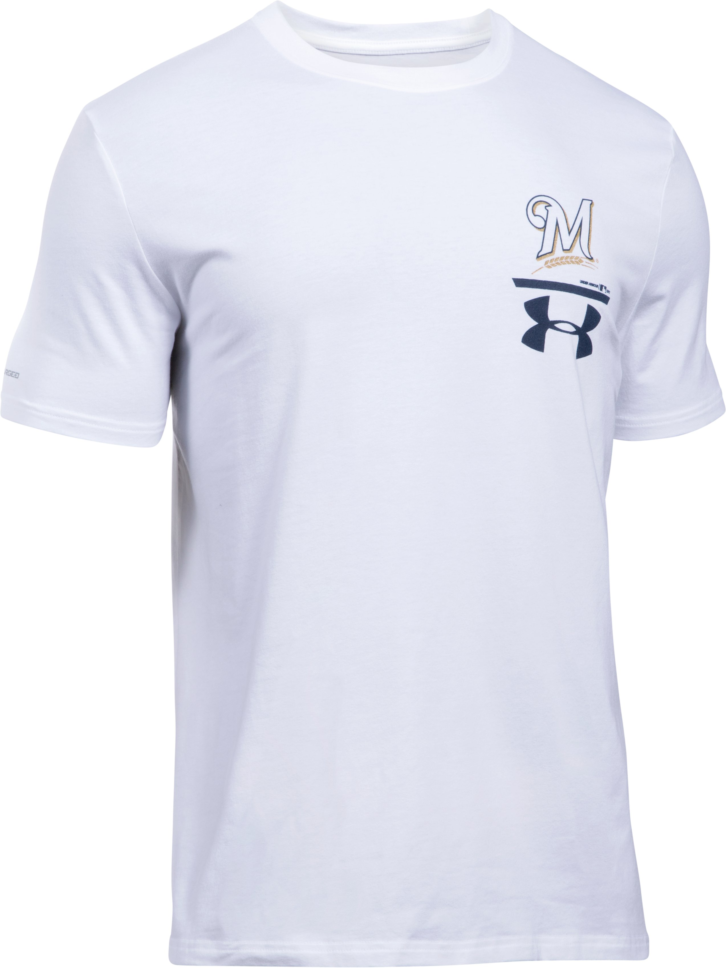 Men's Milwaukee Brewers Logo T-Shirt, White, undefined