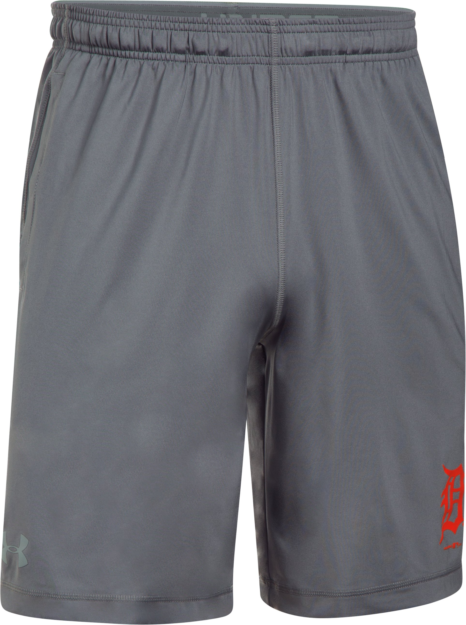 Men's Detroit Tigers UA Raid Shorts, Graphite,