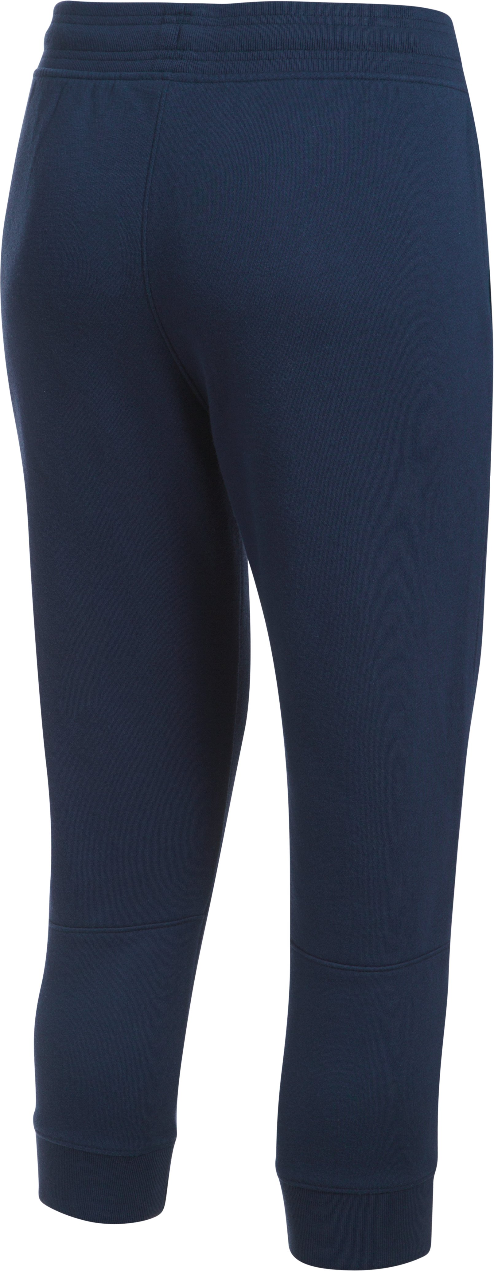 Women's UA Favorite Fleece Capri Wordmark Graphic, Midnight Navy,
