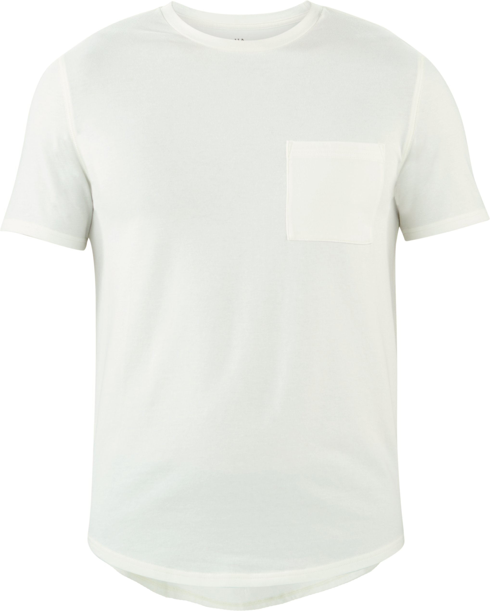 Men's UAS Highline Cashmere-Cotton Pocket Crew, White,