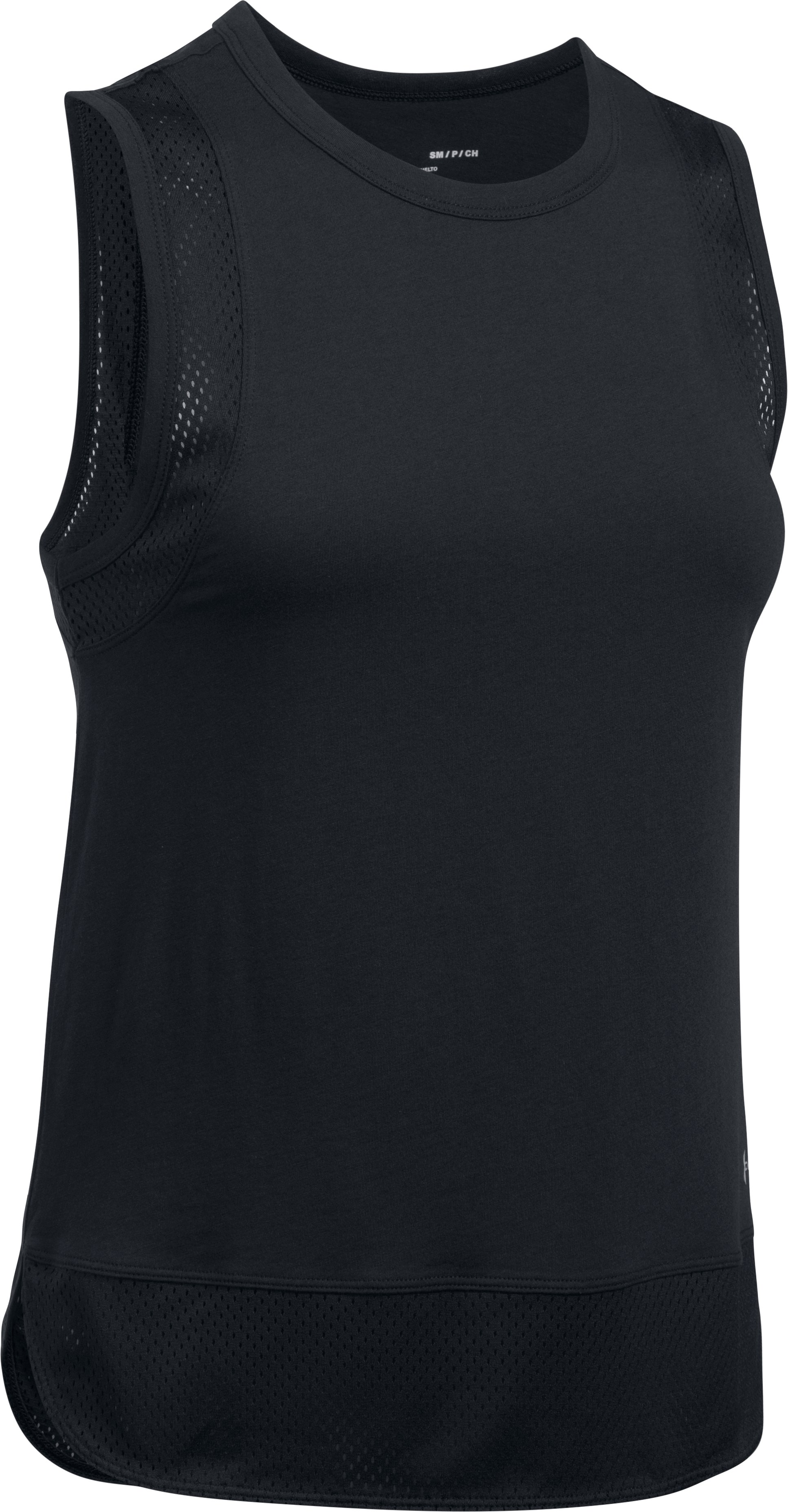 Women's UA Favorite Mesh Graphic Tank, Black , undefined