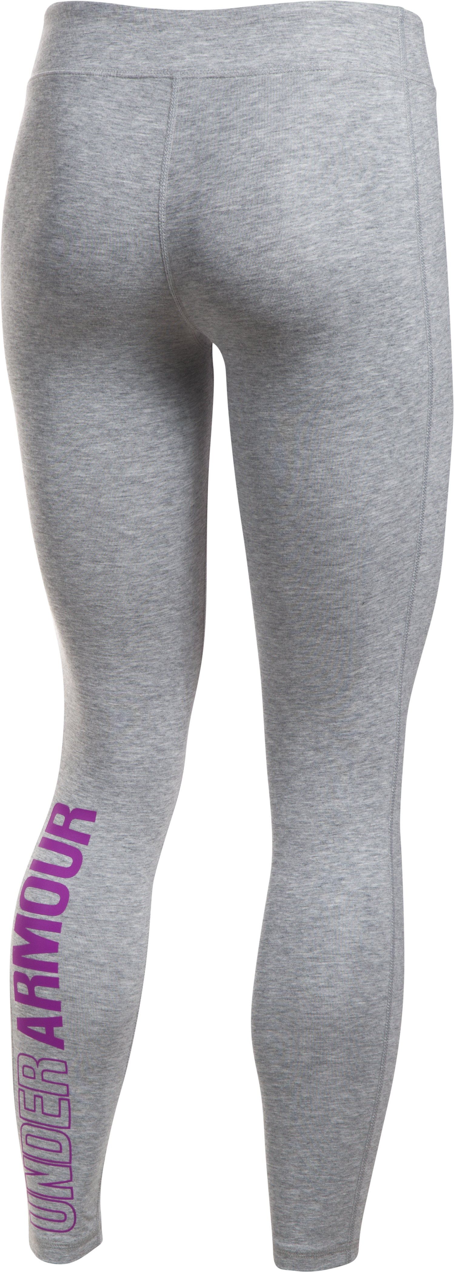 Girls' UA Favorite Knit Leggings, True Gray Heather,