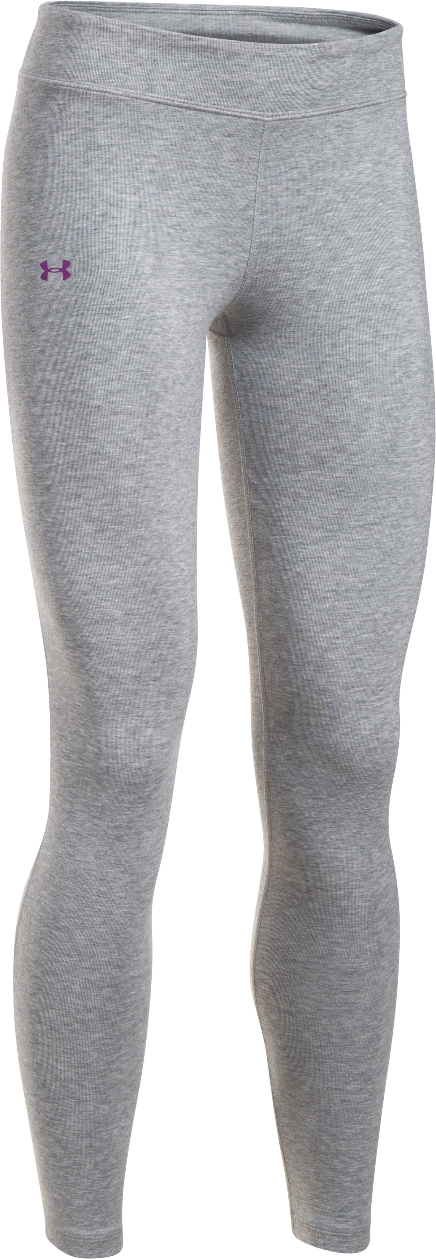 Girls' UA Favorite Knit Leggings, True Gray Heather