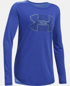 New to Outlet Girls' Threadborne™ Knit Long Sleeve  2 Colors $20.99 to $22.49
