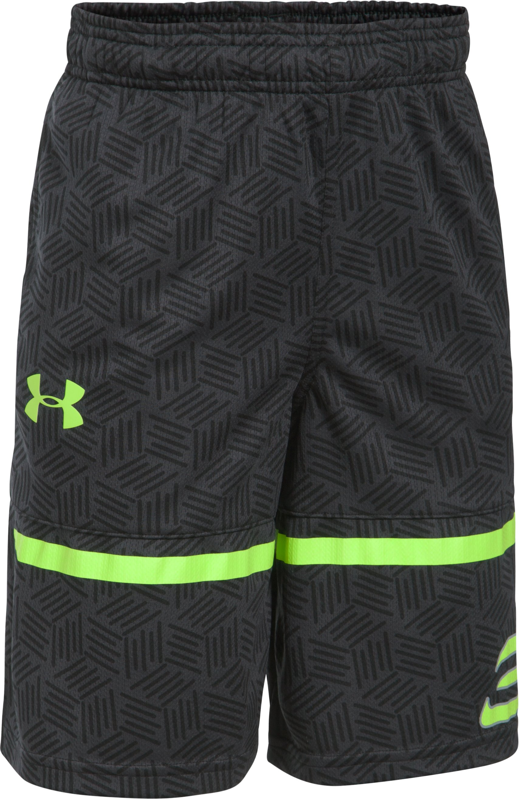 Boys' SC30 Printed Spear Shorts, Black ,