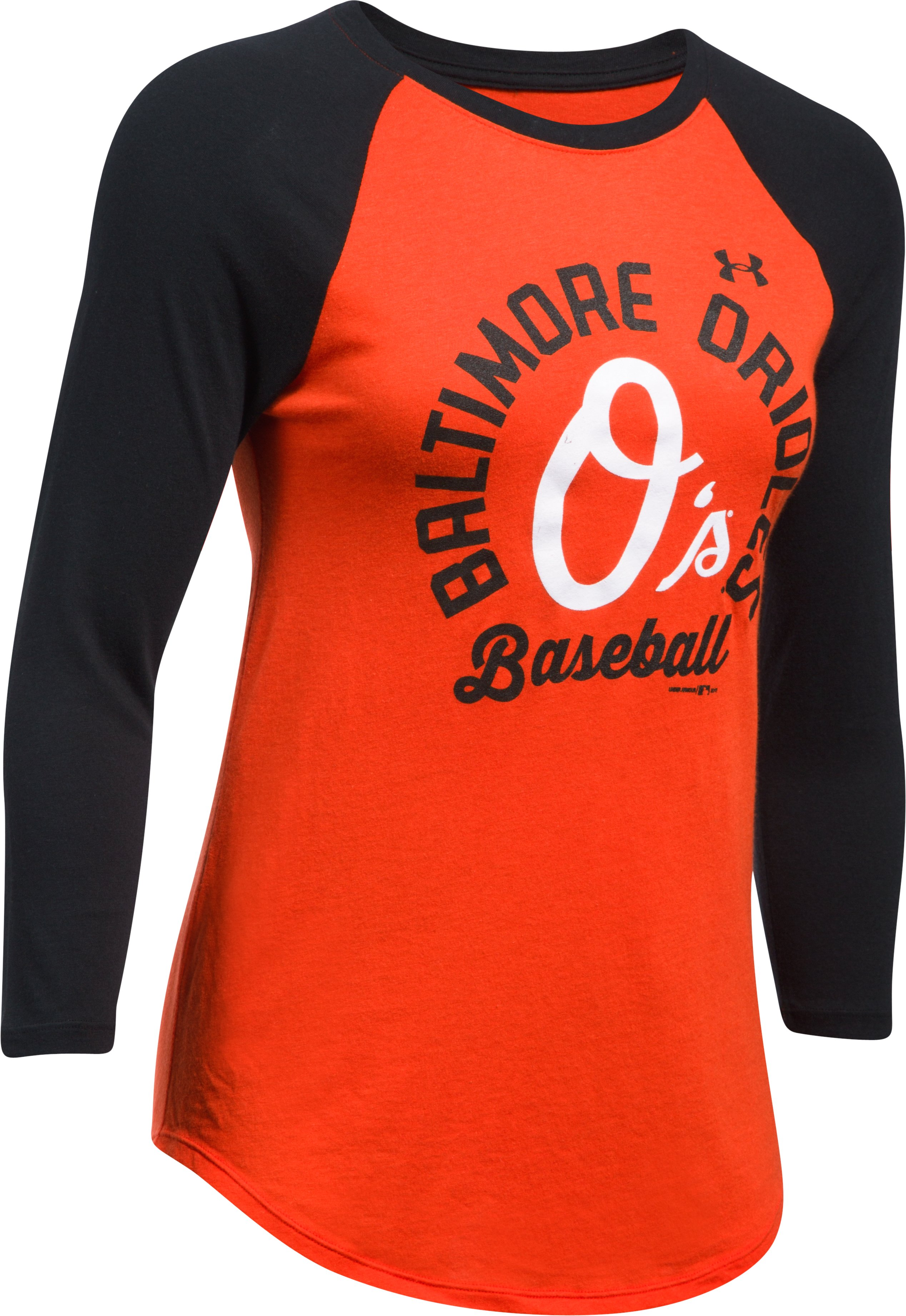 Women's Baltimore Orioles ¾ Sleeve T-Shirt, Dark Orange, undefined