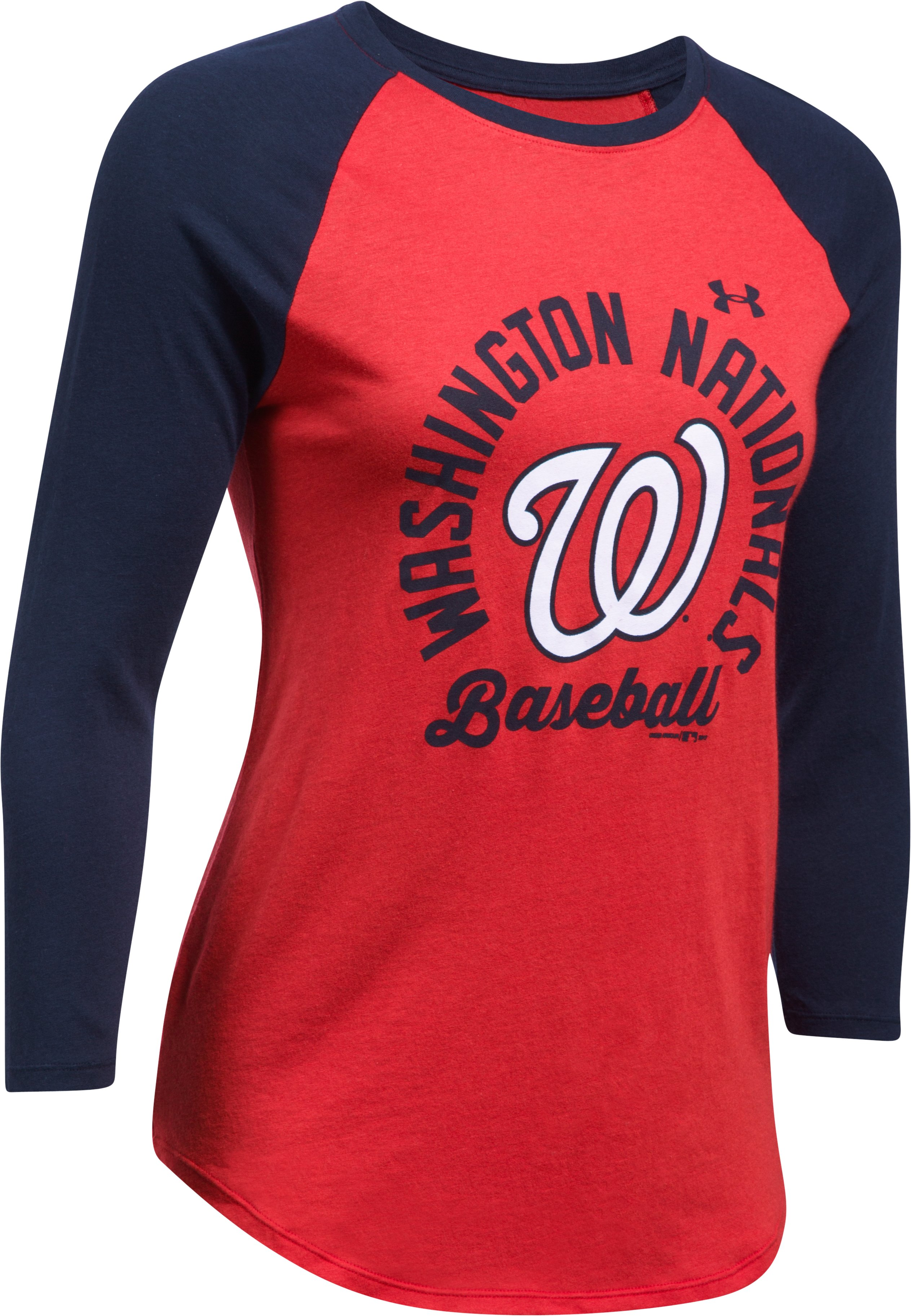Women's Washington Nationals ¾ Sleeve T-Shirt, Red, undefined