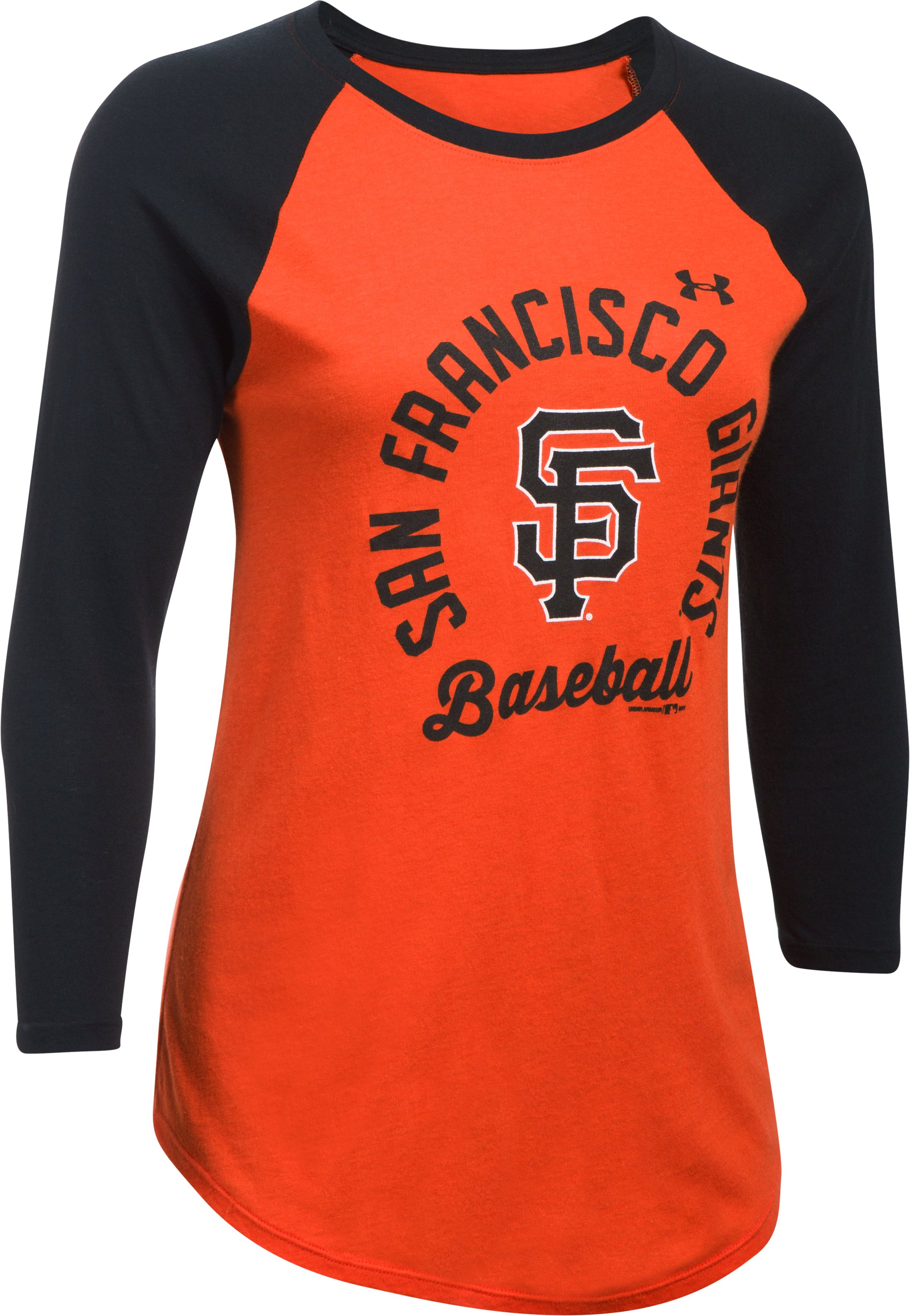 Women's San Francisco Giants ¾ Sleeve T-Shirt, Dark Orange, undefined