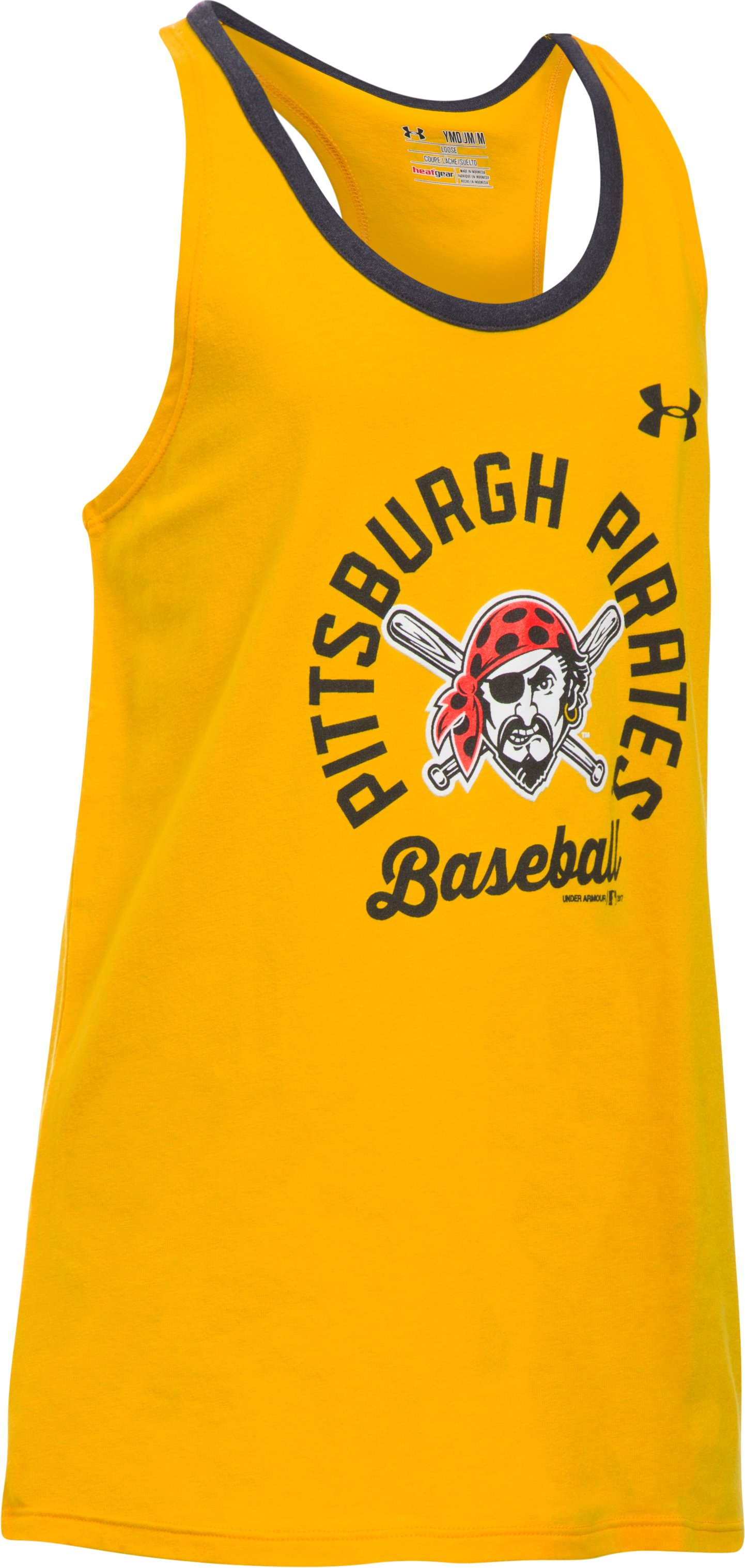 Girls' Pittsburgh Pirates Ringer Tank, Steeltown Gold, undefined
