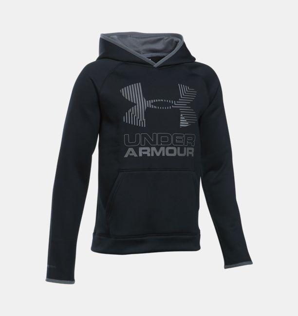 a5e90de0e3d9 Boys  Armour Fleece® Solid Big Logo Hoodie