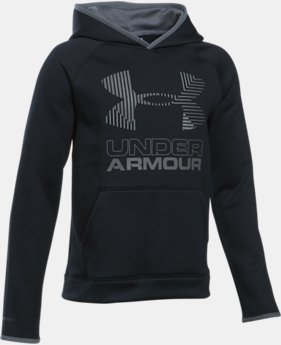 New to Outlet Boys' Armour Fleece® Solid Big Logo Hoodie  2 Colors $31.49