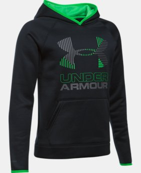 Boys' Armour® Fleece Solid Big Logo Hoodie  4 Colors $49.99