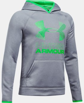 Boys' Armour® Fleece Solid Big Logo Hoodie   $44.99