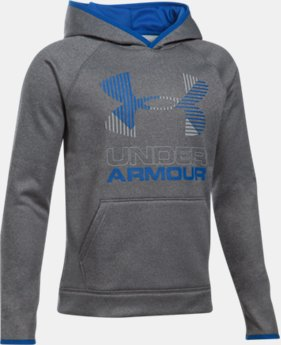 Boys' Armour® Fleece Solid Big Logo Hoodie 40% OFF: CYBER WEEKEND ONLY 6 Colors $26.99