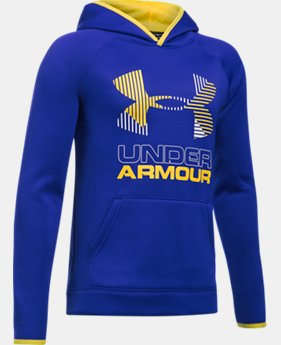 Boys' Armour® Fleece Solid Big Logo Hoodie LIMITED TIME OFFER 4 Colors $29.99
