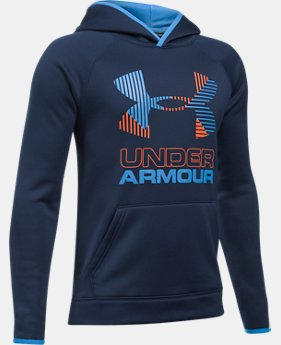 New to Outlet Boys' Armour Fleece® Solid Big Logo Hoodie  2 Colors $31.49 to $44.99