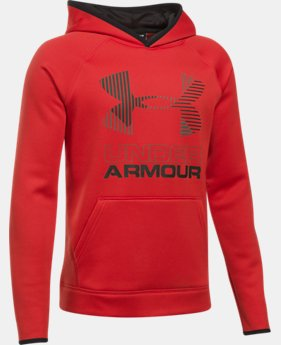 Boys' Armour® Fleece Solid Big Logo Hoodie LIMITED TIME OFFER  $29.99
