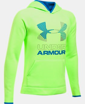 New to Outlet Boys' Armour Fleece® Solid Big Logo Hoodie  5  Colors Available $26.99 to $33.99