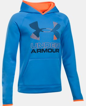 New to Outlet Boys' Armour Fleece® Solid Big Logo Hoodie   $31.49