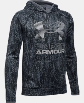 Boys' Armour® Fleece Printed Big Logo Hoodie LIMITED TIME OFFER  $29.99