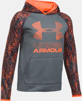 New to Outlet Boys' Armour Fleece® Printed Big Logo Hoodie   $31.49
