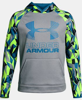 Boys' Armour Fleece® Printed Big Logo Hoodie  2 Colors $59.99