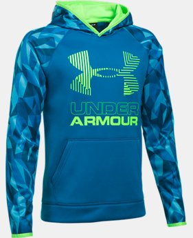 Boys' Armour® Fleece Printed Big Logo Hoodie  7 Colors $59.99