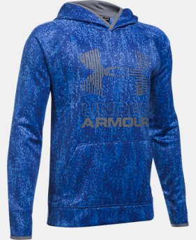 New to Outlet Boys' Armour Fleece® Printed Big Logo Hoodie  6  Colors Available $26.99 to $33.99