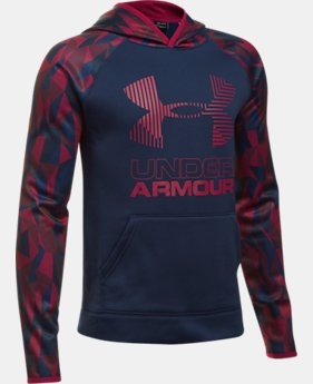 Boys' Armour® Fleece Printed Big Logo Hoodie  4 Colors $44.99