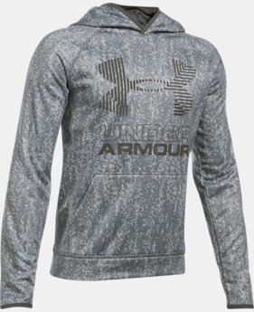 New to Outlet Boys' Armour Fleece® Printed Big Logo Hoodie  10 Colors $31.49 to $44.99