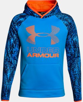 Boys' Armour Fleece® Printed Big Logo Hoodie  6  Colors Available $26.99 to $31.49