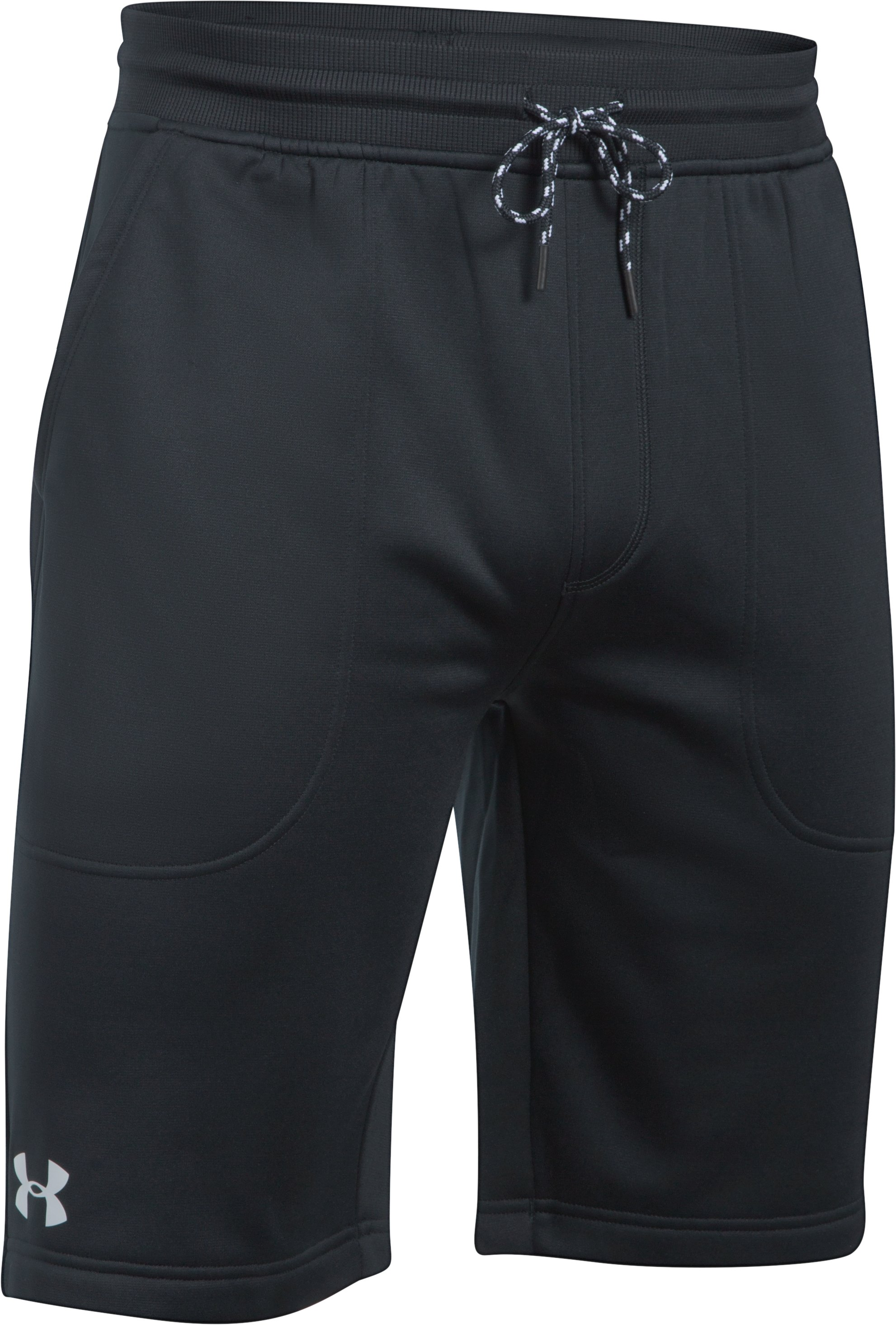 Men's UA Storm Armour Fleece® Shorts, Black , undefined
