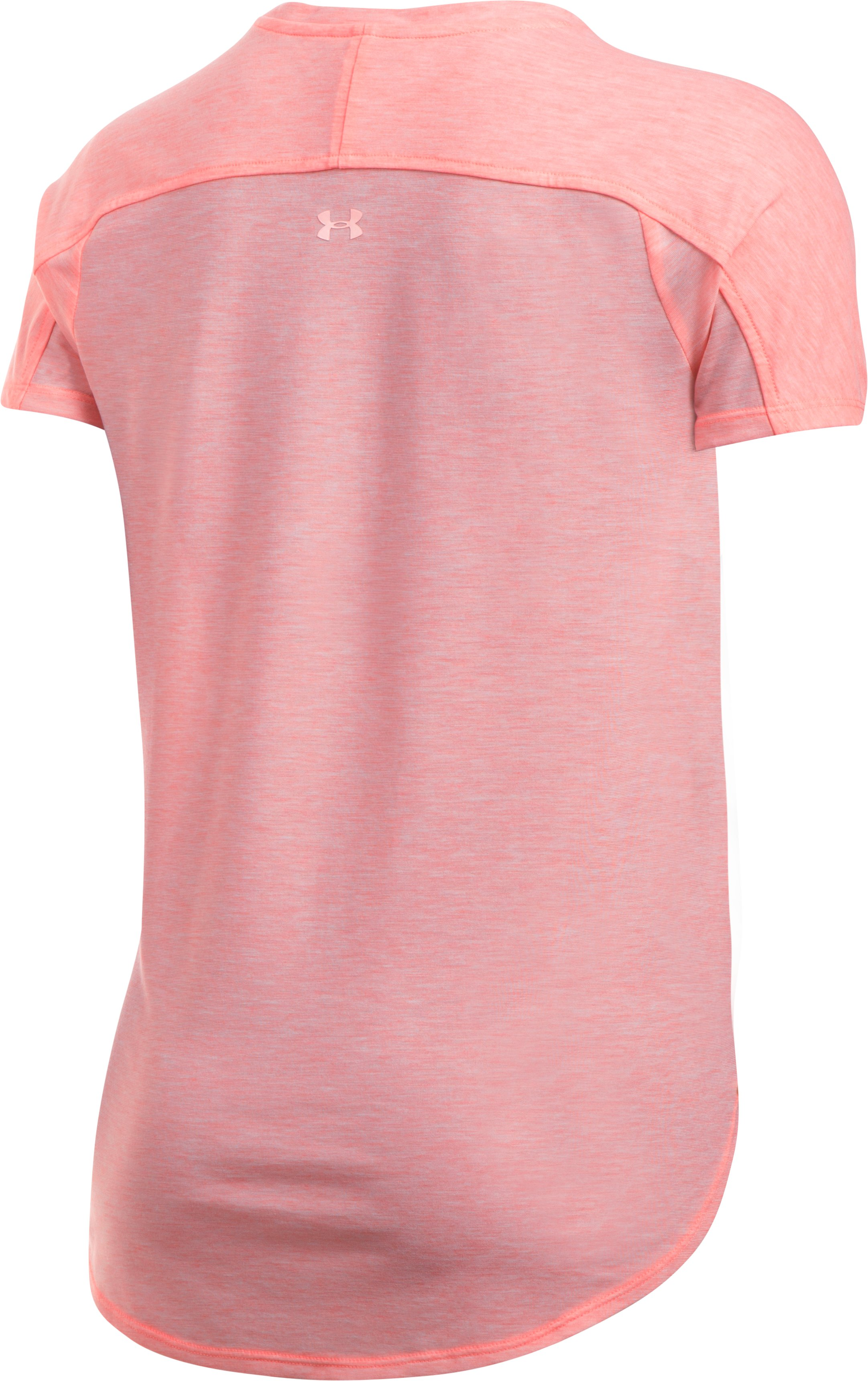 Women's UA Breathe Short Sleeve Top, CAPE CORAL FADE HEATHER, undefined