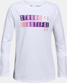 New Arrival Girls' UA Beautifully Strong Long Sleeve  1 Color $19.99